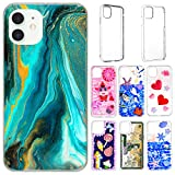 6 Pieces Epoxy Resin Mobile Phone Cases Include 3 Pieces Hard Shells and 3 Pieces Soft Shells Sublimation Blanks Phone Cases Compatible with iPhone 12/12 Pro for DIY