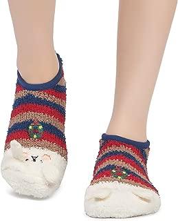 Leotruny Women's Animal Winter Cute Cozy Warm Fuzzy Slipper Socks