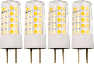 4W JC GY6.35 LED Bulb 120V 35W T4 Halogen GY6.35 Base Bulb Equivalent Warm White - Pack of 4