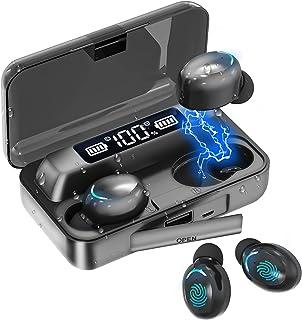 Audífonos Bluetooth, TXG Audífonos Inalámbricos Bluetooth, Auriculares Inalámbricos Deportivos con Interfaz con Micrófono, Caja de Carga Portátil de Gran Capacidad y Audífonos para Juegos de Entretenimiento para iPhone y Android, Se Pueden Usar para Correr, Escuchar Música, Hablar Por Teléfono, Ver Videos