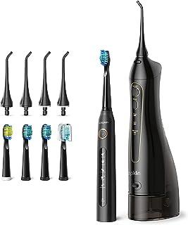ترکیبی از نخ دندان و مسواک ، Wepklin Ultimate Care 4H Charge حداکثر 30 روز استفاده ، 5 حالت مسواک برقی Sonic ، 3 حالت نخ دندان بدون سیم ، 4 سر برس و 4 نکته جت آب