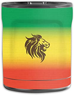 MightySkins Skin Compatible with OtterBox Elevation Tumbler 10 oz - Rasta Lion   Protective, Durable, and Unique Vinyl Decal wrap Cover   Easy to Apply, Remove, and Change Styles   Made in The USA