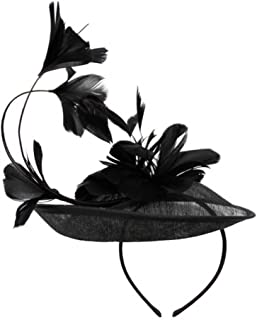 Womans Classy Fascinator Headpiece with Blossoming Tulip Flower Design and Ribbon - Sinamay Fabric