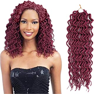 Crochet Braids Hair Curly Faux Locs Crochet Braiding Hair Body Wave Mambo Hair Extension 6piece/lot (18inch, BUG)