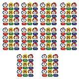 Yunnan 10 hojas de pegatinas de Navidad de dibujos animados de Papá Noel árbol Alce decoración adhesivo sello etiqueta DIY manualidades caja de regalo para hornear paquete de boda negocio
