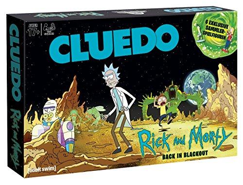 Winning Moves- Cluedo-Rick und Morty Juego de Mesa, Multicolor (11422)