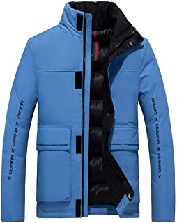 Zantt Mens Anorak Parka Thick Quilted Hooded Warm Sherpa Lined Puffer Down Jacket