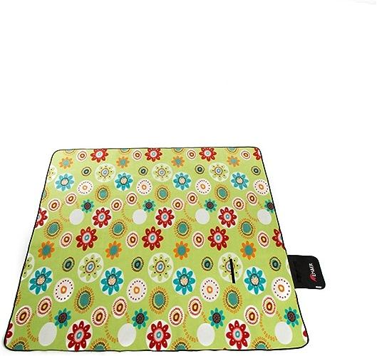 GUJJ Camping de plein air pique-nique imperméable épais tissu Oxford pli portable pad tapis de tentes de l'humidité tissu pique-nique ,g2-200200cm