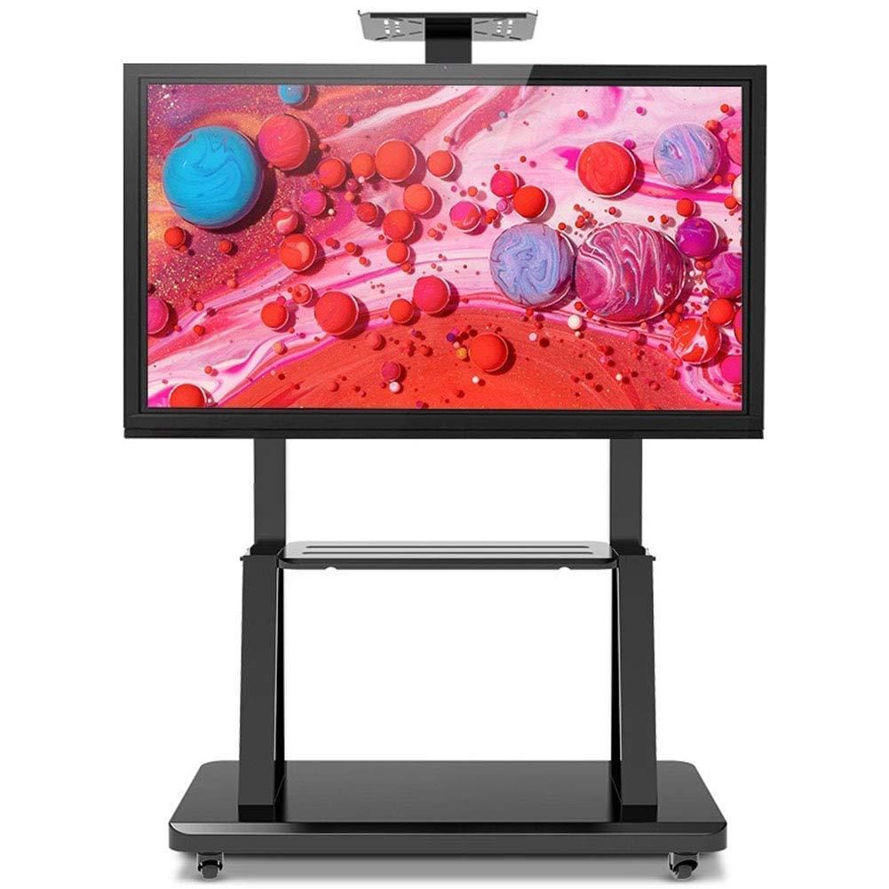 YUIOLIL 55-95 Pulgadas LED LCD OLED Pantalla Plana o Curva de Plasma Soportes de TV universales con Ruedas Carro de TV para Oficina: Amazon.es: Hogar