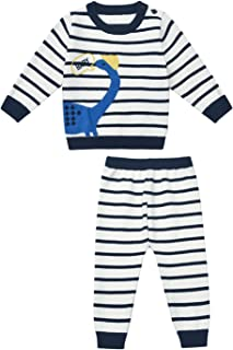 SMILING PINKER Baby Boys Girls Clothing Sets Dinosaur Sweater Pullover and Striped Pants Outfits