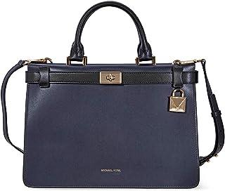 d5b549dfdfdf Women s Accessories Michael Kors Black Blue Tatiana Medium Satchel Bag Fall  Winter 2019