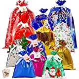 Chrsitmas Gift Bags - 40pcs Christmas Wrapping Bag for Presents - Xmas Gift Bag Assorted Sizes Bulk...