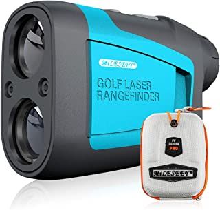 MiLESEEY Golf Rangefinder Laser 660 Yard 6X Magnification with Slope/Pin/Range/Scanning Model Wrist Strap Carrying Bag for...