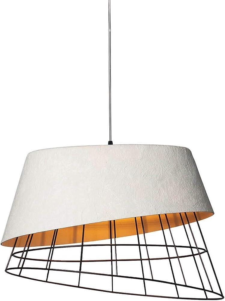 Karman mono, lampada a sospensione con diffusore color ruggine, in vetroresina SE1081R INT