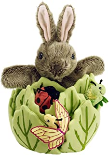 The Puppet Company Hide-Away Puppets Rabbit in a Lettuce with Six Mini Beasts