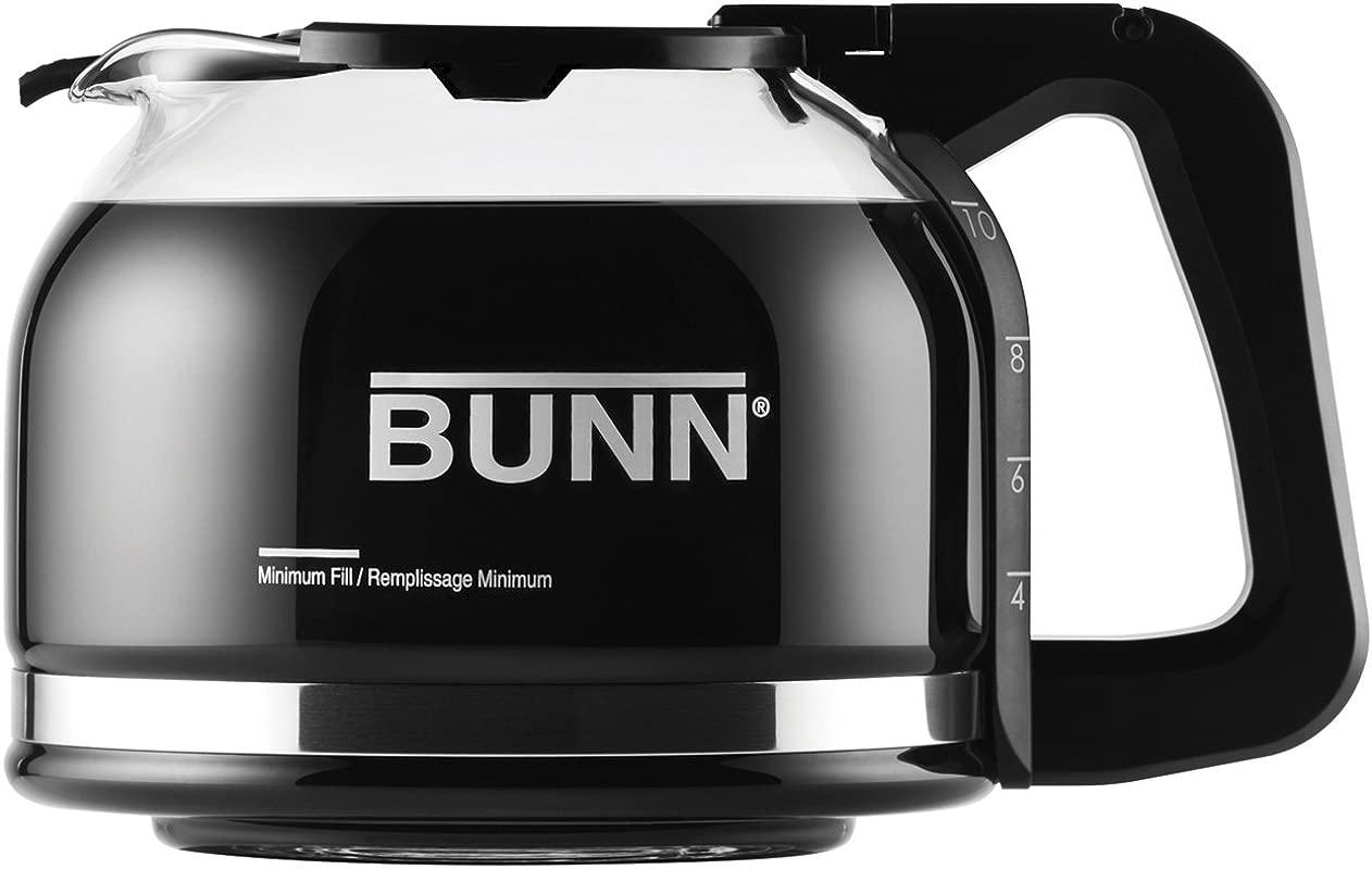 BUNN Pour O Matic 10 Cup Drip Free Carafe Black