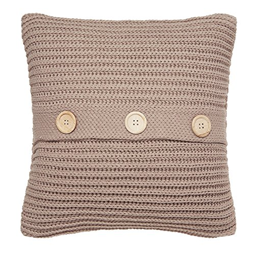 Catherine Lansfield Chunky Knit Cushion Cover Natural, 45x45cm