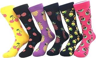 6 pares calcetines divertidos para mujer, calcetines estampados de algodon, calcetines de colores de moda