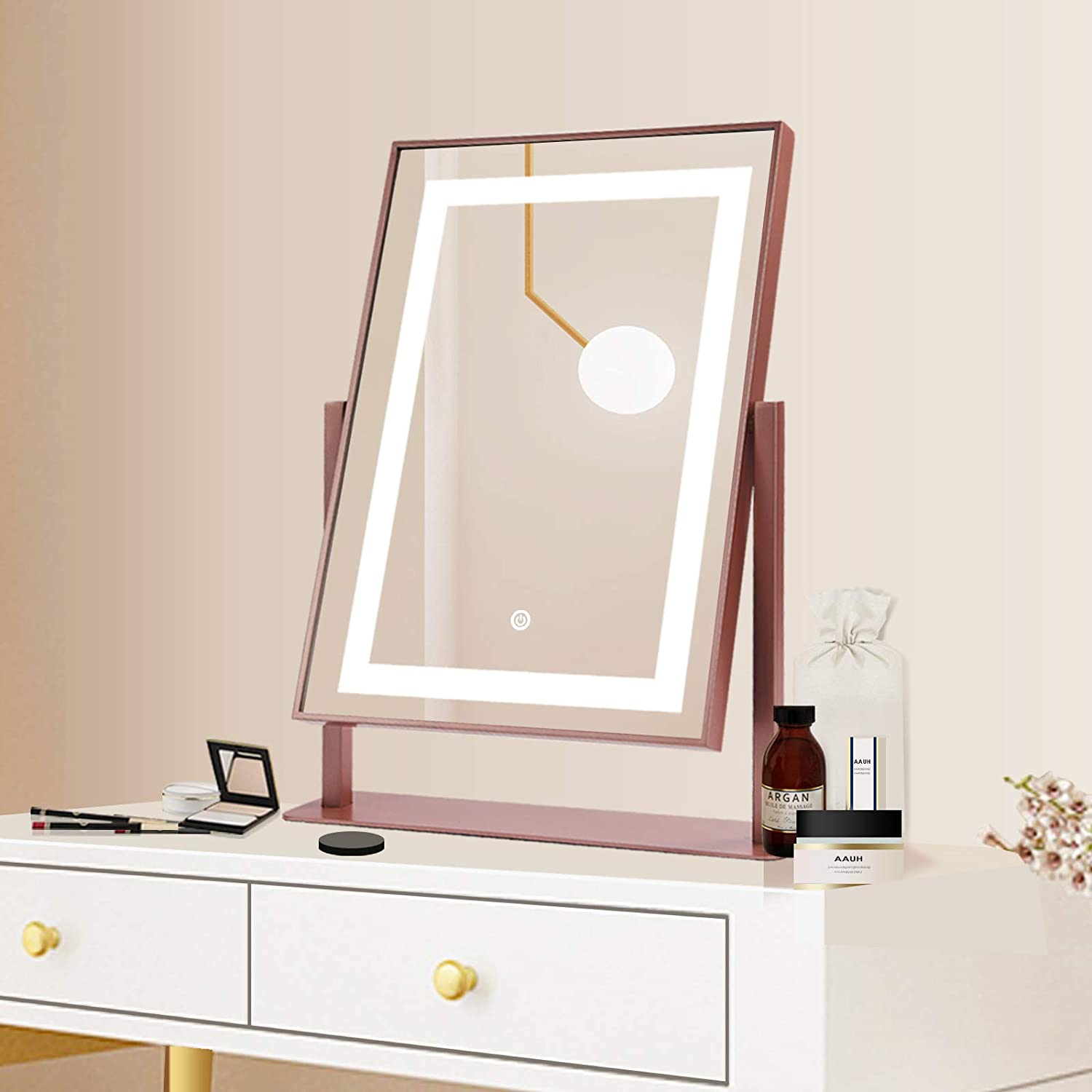 ANDY STAR 14x19 Large Rectangle Mirror Max Mail order 85% OFF Lights with Vanity Light