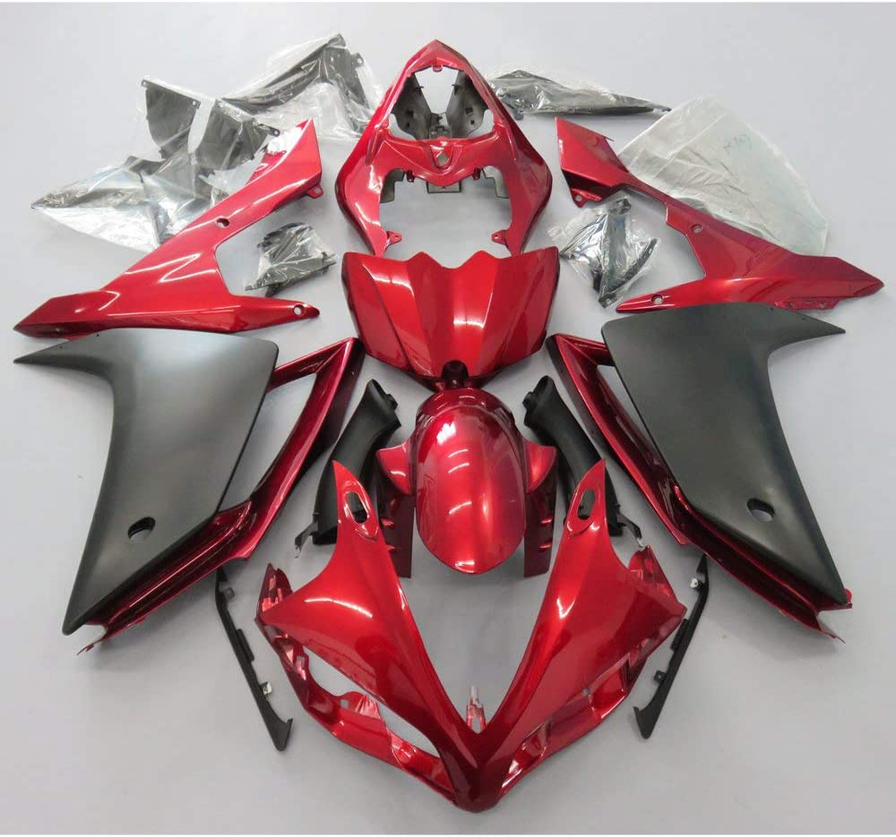 ZXMOTO Deep Red All items in the store Matt Black Fairing Yamaha Super special price R1 2007- YZF for Kit