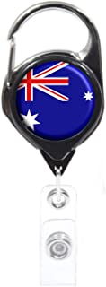 Officially Needed-Australia Country ID Badge Holder, Black Retractable Carabiner Clip | Great Office Supplies or Holding Keys | Gifts for Women, Teachers, Nurses, Professionals, Government, New Hires