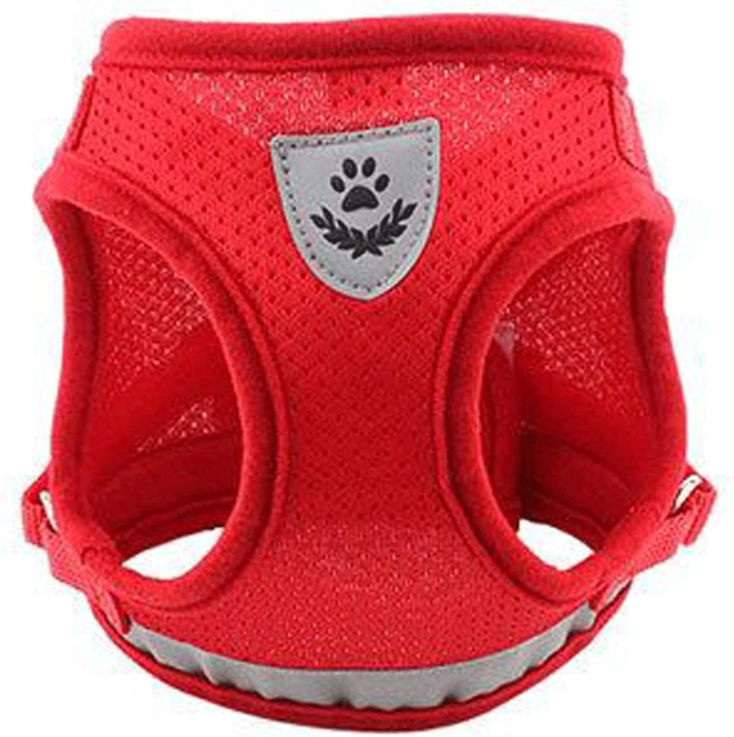 Chest Strap Dog Strap,Medium and Small Dog Leash,Reflective Design,Breathable is Simple and Comfortable Dog Leash (color   RED, Size   S)