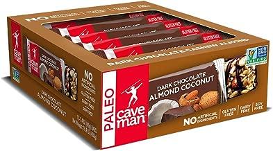 Caveman Foods Paleo-Friendly Nutrition Bar Dark Chocolate Almond Coconut, 1.4 Ounce (12 Count Box)
