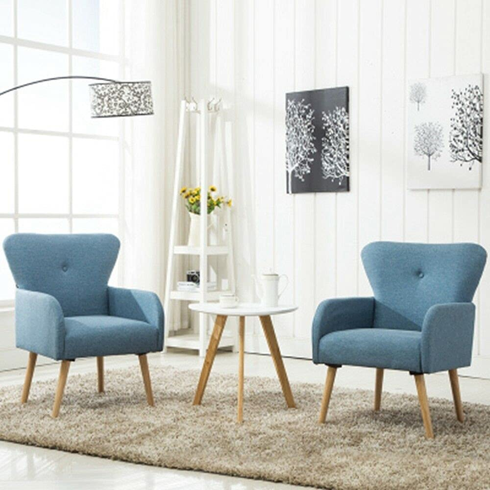 Color: store Blue Elegant Design Fabric Leg Club Arm Upholstered Chair Popular product