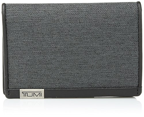 TUMI - Alpha Multi Window Card Case Wallet with RFID Lock for Men - Anthracite/Black