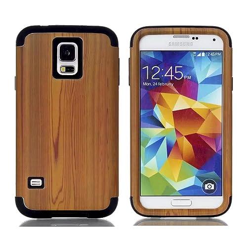 lowest price 3fe37 f34df Samsung Galaxy S5 Wood Case: Amazon.com