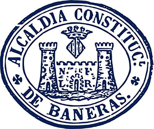 magFlags Bandera Large Segell Alcaldia de Banyeres AHN, 1876 | Segell de l Alcaldia de Banyeres de Mariola | Bandera Paisaje | 1.35m² | 110x130cm