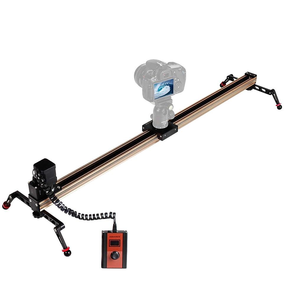 材料強化するマザーランドASHANKS スライダー カメラ 100cm 電動式 プロ ポータブル ベアリング四つ付き ビデオ安定レール アルミ合金製 コンパクト 持ち運び便利 フィルム/低速度撮影用 夜景/星空/渓流撮影に最適