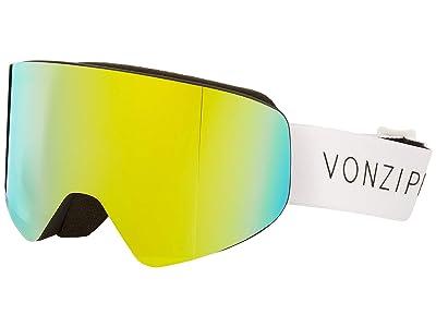 VonZipper Encore Goggle (Black Satin/White Strap/Gold Chrome Lens) Goggles