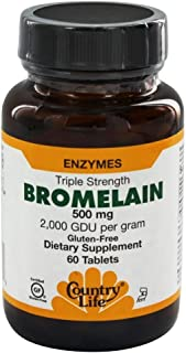 Country Life - Natural Bromelain, 500 mg, 60 Tablets