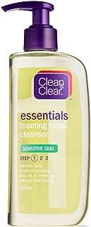 CLEAN & CLEAR Foaming Facial Cleanser Sensitive Skin 8 oz (Pack of 4)