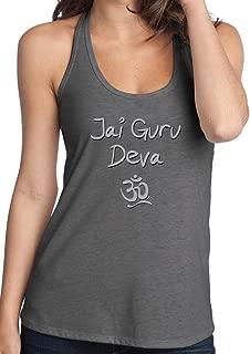 Yoga Clothing For You Ladies Jai Guru Deva OM T-Back Tanktop