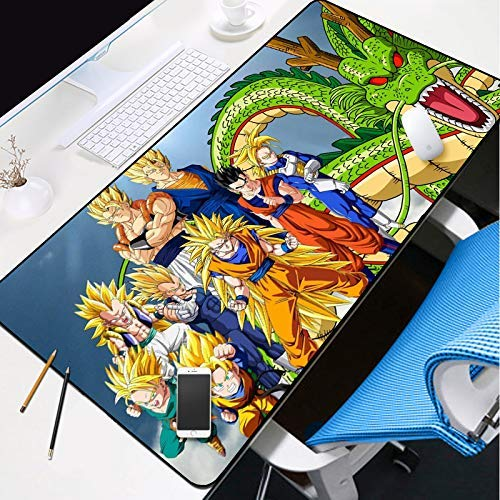 Tappetino Mouse Gaming Tappetino Mouse Xxl, Grande Gaming Mouse Pad Mat 700X300MM Heroes Of City Ruins Spesso esteso Mousepad resistente all'acqua con gomma antiscivolo Base, Anti-Fray ha cucito bordi