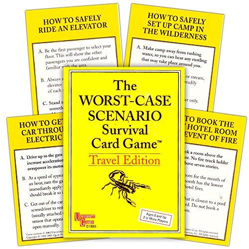Univ Games The Worst-Case Scenario Survival Card Game Travel Edition