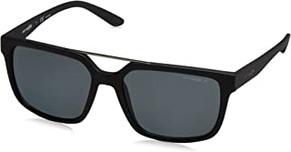 Arnette Men's Petrolhead Polarized Square Sunglasses, MATTE BLACK, 57 mm