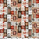 ANRO Wachstuch Tischdecke abwaschbar Wachstuchtischdecke Wachstischdecke BBQ Grill Garten Rot Oval 200x140cm - 3