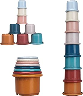 8 Pcs Stacking Cups Building Toy, Nesting Cups Toys, Educational Stackable Colorful Set with Embossed Animal Characters fo...