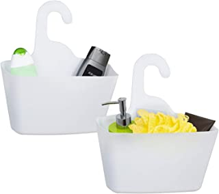 Tatkraft POSH Shower Caddy White 2-lags arrangör Lätt att rengöra Ingen borrning 12,2 X 11 X 4,7 ''