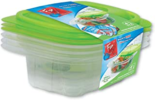 Fun® Indispensable Disposable Multipurpose Plastic Food Container set with Lid/Meal Prep - Pack of 4-12oz