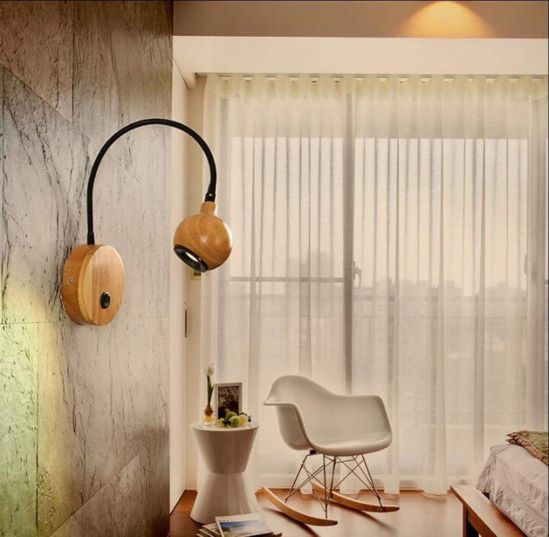 Xiao Yun    Nordic led, Schlafzimmer nachttischlampe Moderne kreative Flur Gang persnlichkeit teleskop Hotel Studie leselampe nachttischlampe (Farbe  wei)
