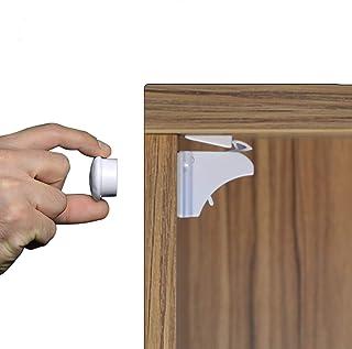 SWIPPLY Baby Cabinet Locks Safety Magnetic 4 Locks + 1 Keys Child Safety Proofing Lock Babies Kids Proof Hidden Mini Magne...