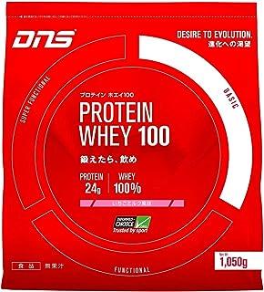 DNS ホエイプロテイン ホエイ100 いちごミルク風味 1050g (約30回分) 水で飲める プロテイン WPC ホエイたんぱく質 筋トレ 1 袋