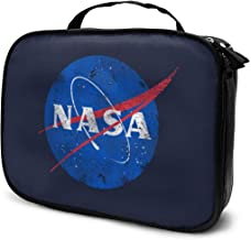 NASA Logo Cosmetic Bag Portable Makeup Pouch Travel Hanging Organizer Bag for Women Girls