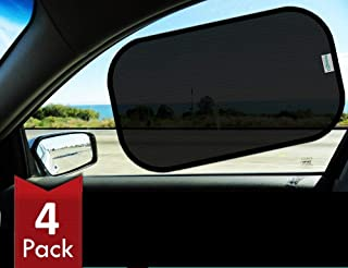 Best Kinder Fluff Car Window Sunshades (4X)-The Only Certified Sunshade to Block 99.79% UVA & 99.95% UVB -Mom