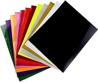 Vinilo de transferencia de calor para tela de camisetas - 12 hojas de colores surtidos -