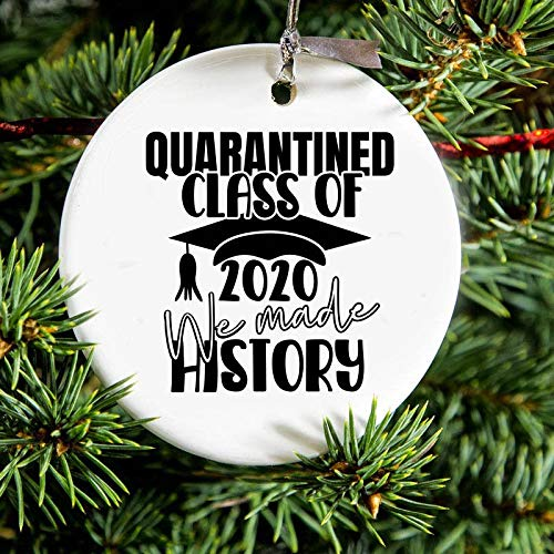 Lplpol Quarantined Class of 2020 We Made History Christmas Ornament Gift Quarantine Gift Graduate Graduation Gift Friends Tv Show Quote